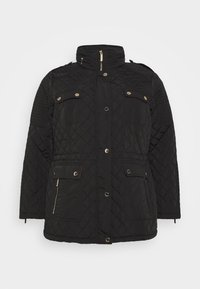 MICHAEL Michael Kors - QUILTED CINCHED WAIST JACKET - Light jacket - black - 0