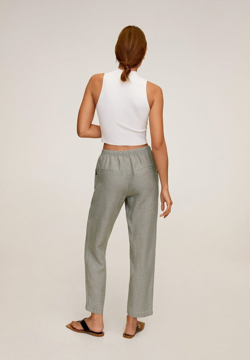 Mango - Pantalon classique - groen