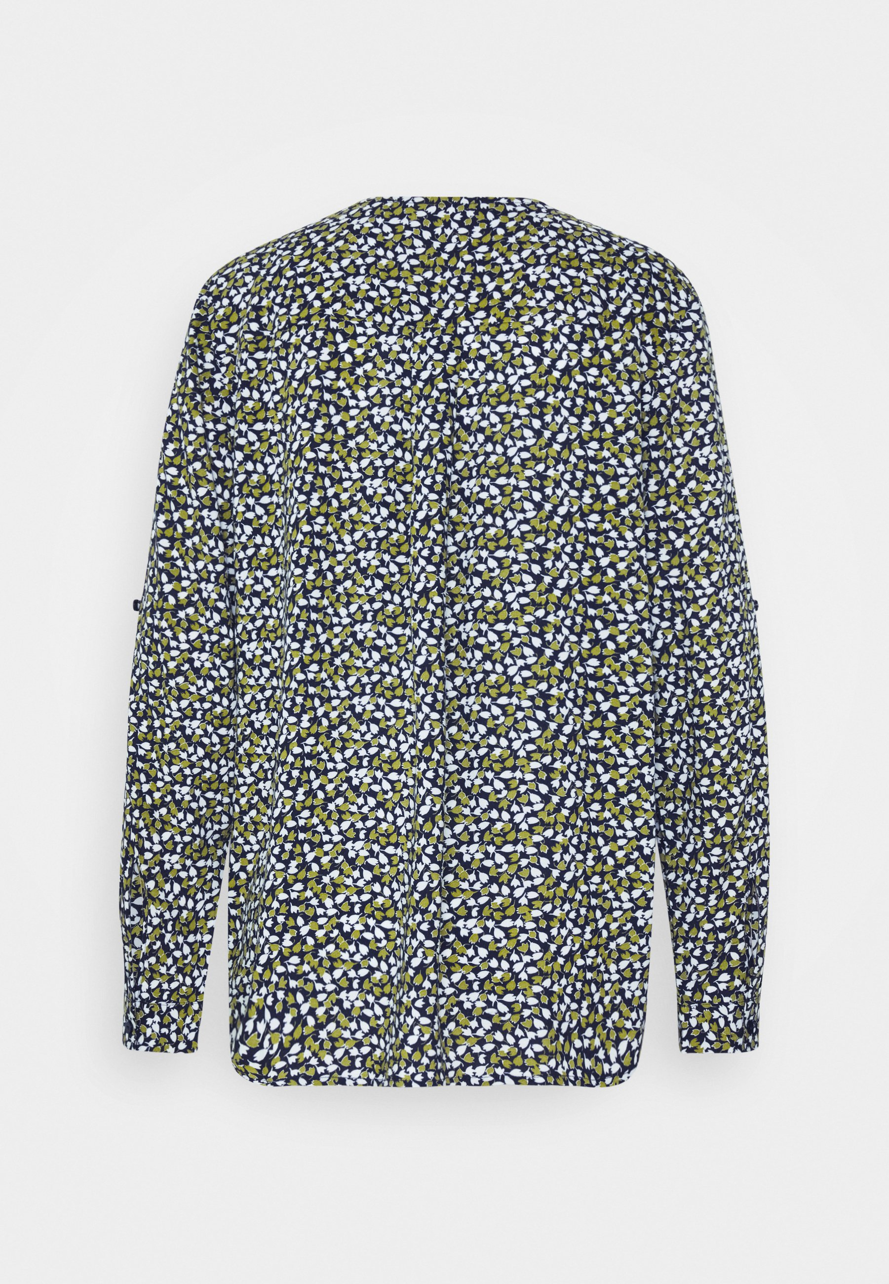 Tom Tailor Blouse Printed With Tape - Bluser Navy/green/blå