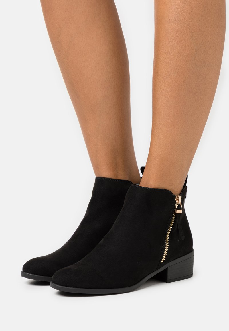 Dorothy Perkins - MACRO SIDE ZIP BOOT - Ankle boots - black