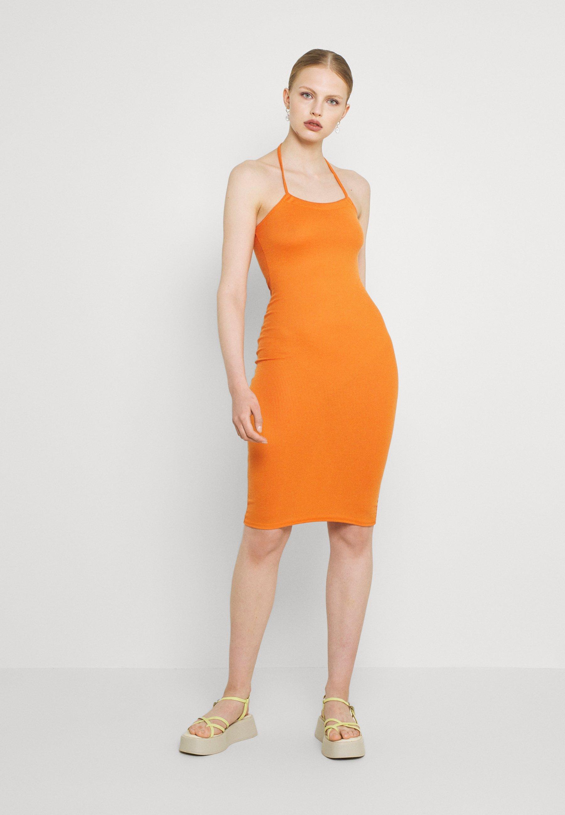 Women HALTER NECK MIDI DRESS - Shift dress