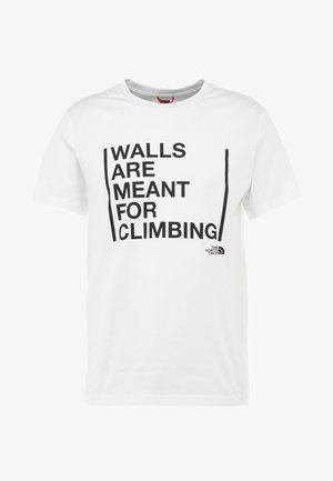 WALLS CLIMB TEE - Triko spotiskem - white