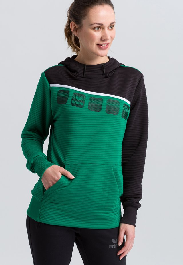 Hoodie - green/black