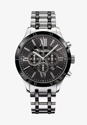 REBEL URBAN - Chronograph watch - silver-colored/black
