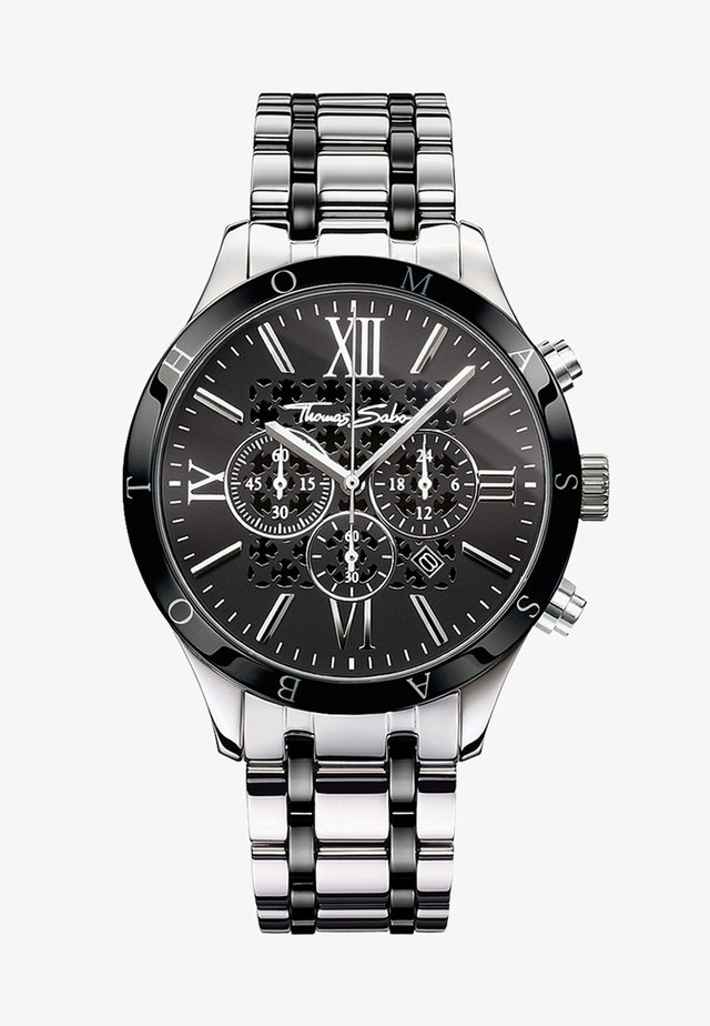 REBEL URBAN - Chronograph watch - silver-colored/black