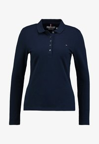 Tommy Hilfiger - HERITAGE LONG SLEEVE SLIM  - Polo shirt - midnight - 4