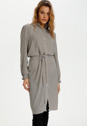 Shirt dress - creme square check