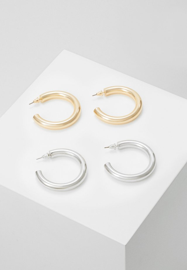 THICK HOOP 2 PACK - Øreringe - mixed metal