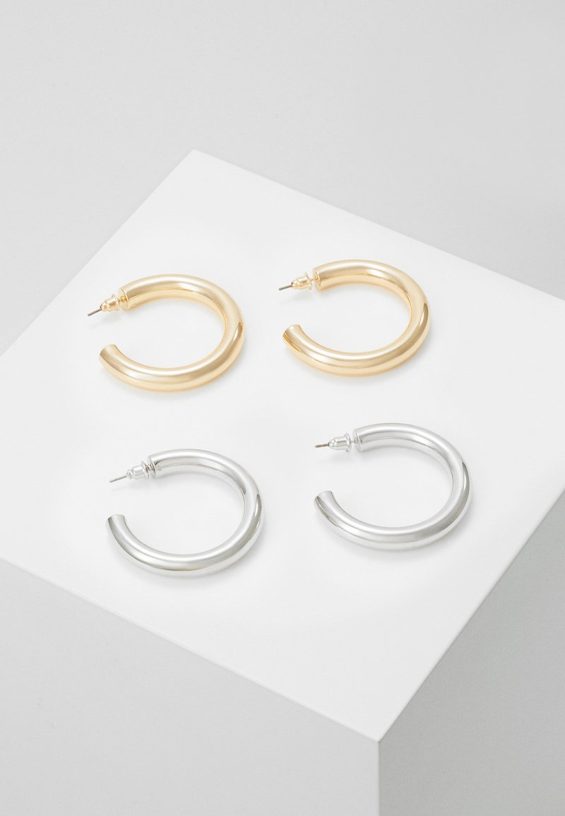 Topshop - THICK HOOP 2 PACK - Korvakorut - mixed metal