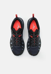 Mizuno - WAVE DAICHI 6 - Trail running shoes - india ink/black/ignition red - 3