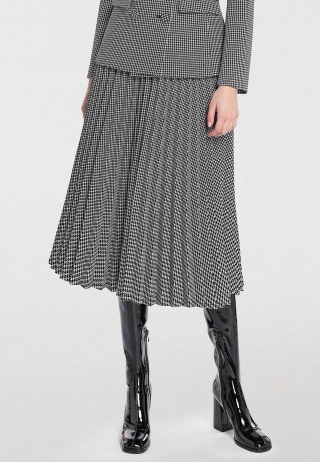 Spódnica trapezowa - schwarz-taupe