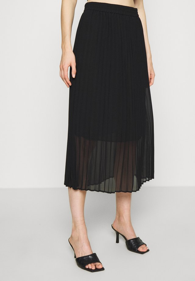 ROE PLEATED SKIRT - Falda acampanada - black