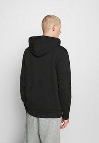 Converse - STAR CHEVRON EMBROIDERED - Zip-up hoodie - black - 2