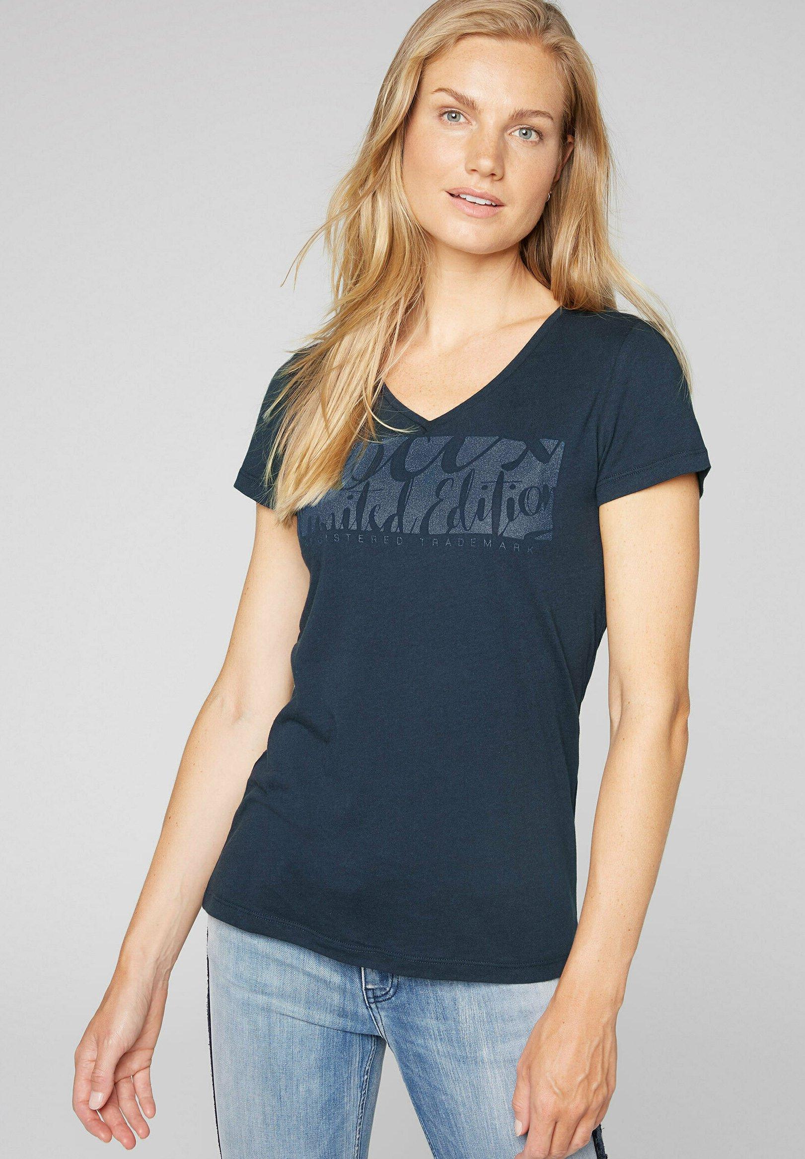 Damen MIT V-AUSSCHNITT UND GLITTER PRINT - T-Shirt print
