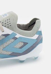 Umbro - VELOCITA VI PRO FG - Moulded stud football boots - white/goblin blue/sargasso sea - 5