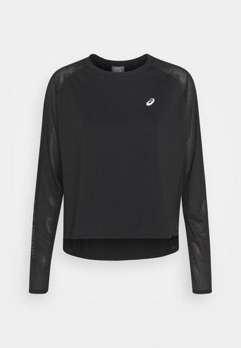 RUN - Long sleeved top - performance black/brilliant white