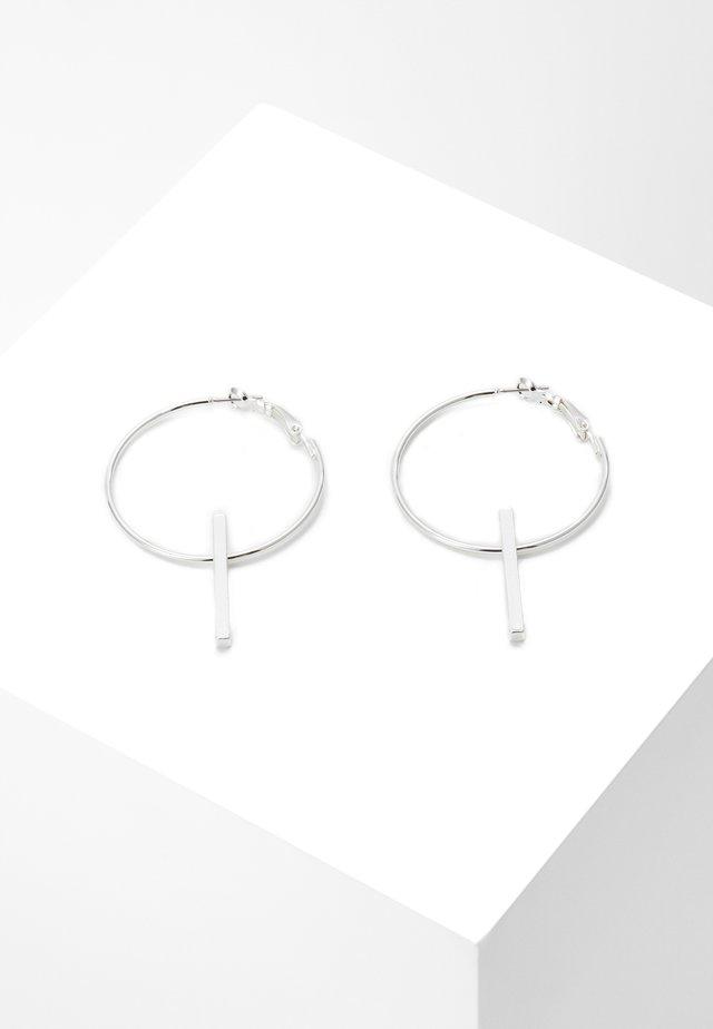 CARLO BIG RING EAR - Náušnice - silver-coloured