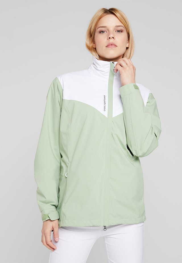 WOMENS CLOUD JACKET - Veste imperméable - mineral green