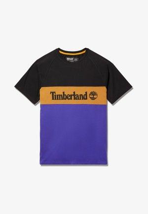 T-shirt print - black/deep blue