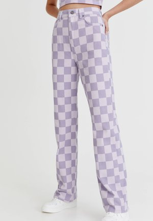 SCHACHBRETTMU - Stoffhose - mottled lilac
