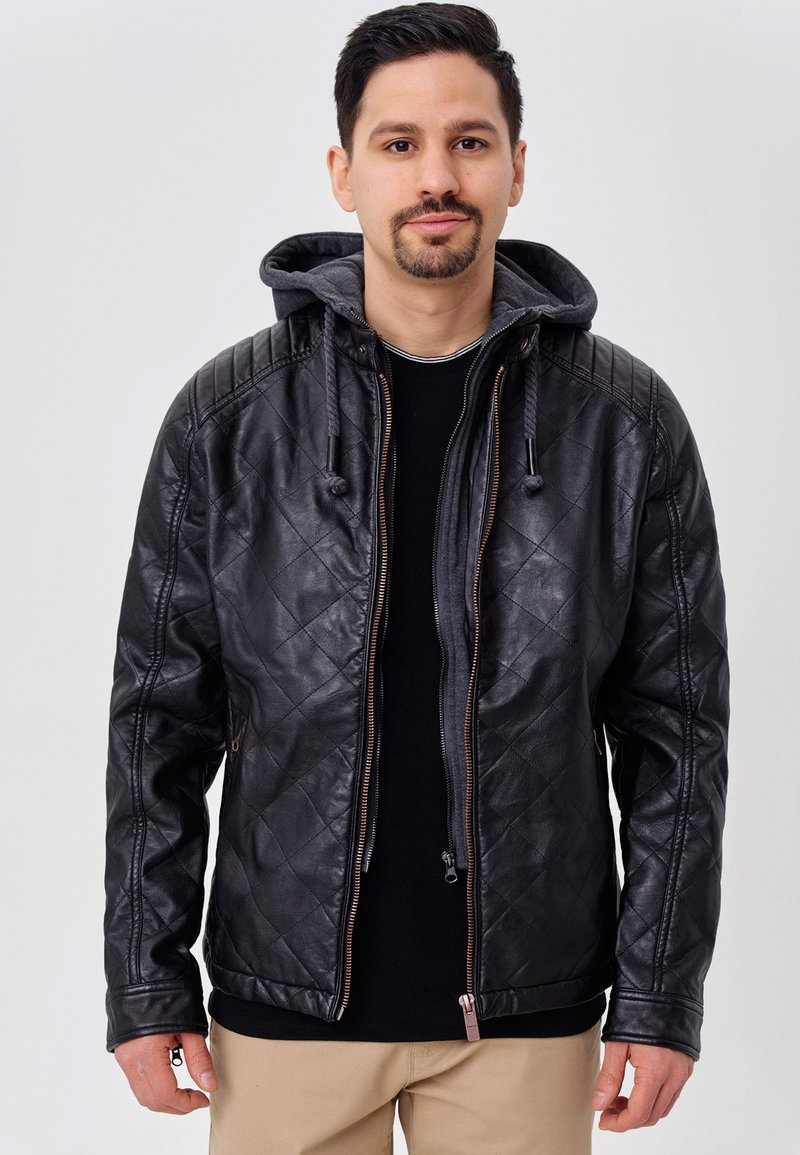 INDICODE JEANS - ECKROTE - Faux leather jacket - black