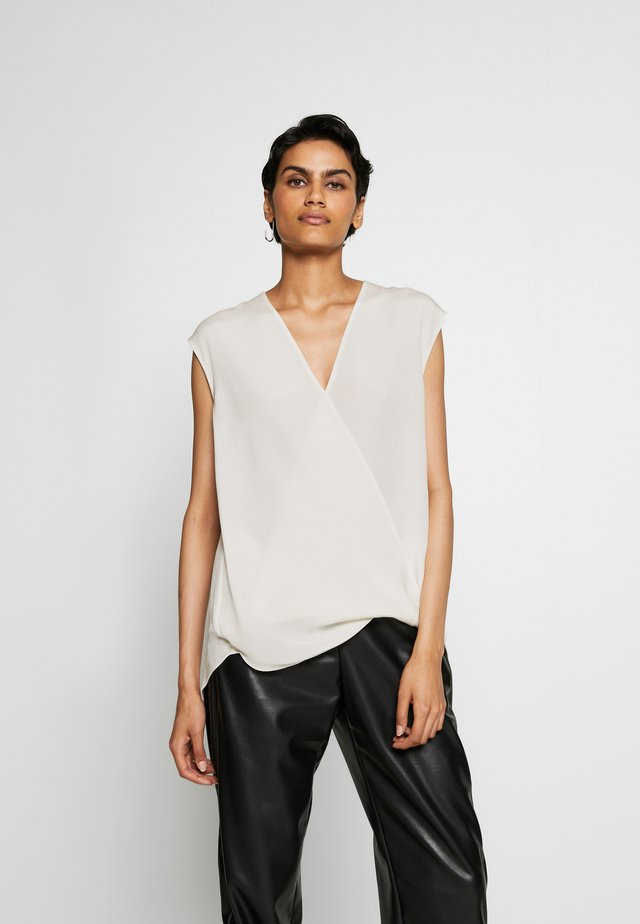 SOFT DRAPED BLOUSE - Bluse - white