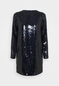 Victoria Victoria Beckham - SEQUIN OVERLAY MINI DRESS - Sukienka koktajlowa - midnight blue - 4