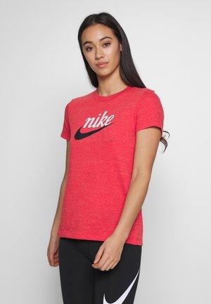 VARSITY - Print T-shirt - track red