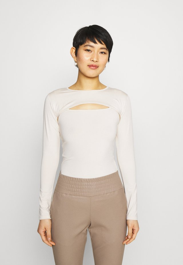 Long sleeved top - stone