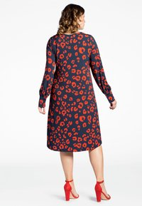 Yoek - Day dress - blue/red - 2