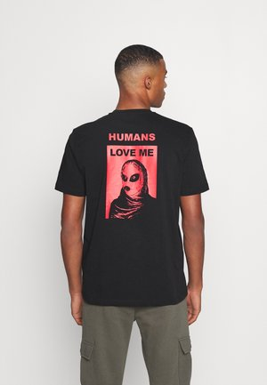 JUST - Print T-shirt - black