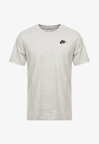 CLUB TEE - Basic T-shirt - dark grey heather/black