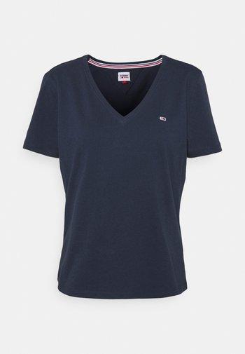 SOFT V NECK TEE - T-shirt basic - twilight navy