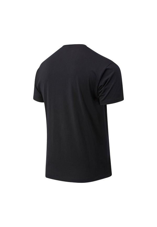 New Balance ESSENTIALS SPEEDER - T-shirt z nadrukiem - black/czarny Odzież Męska SMSO