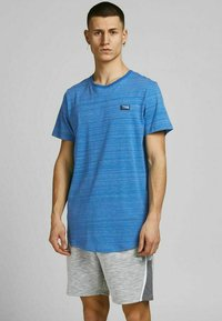 Jack & Jones - SLIM FIT - Print T-shirt - deep water - 0