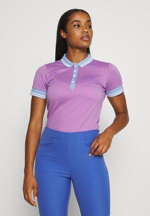 WOMEN ELLA STRUCTURE - Koszulka polo - pink divine/vista blue