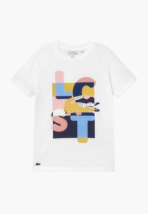 TEE - Print T-shirt - blanc/multicolour