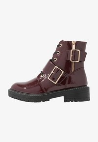 New Look - BUSY - Cowboy/biker ankle boot - dark red - 1