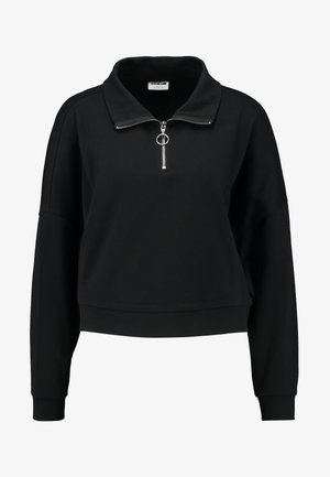 NMHALLY ZIP - Sweatshirt - black