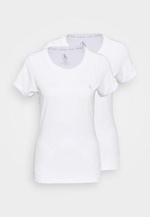 CK ONE CREW NECK 2 PACK - Pyjama top - white