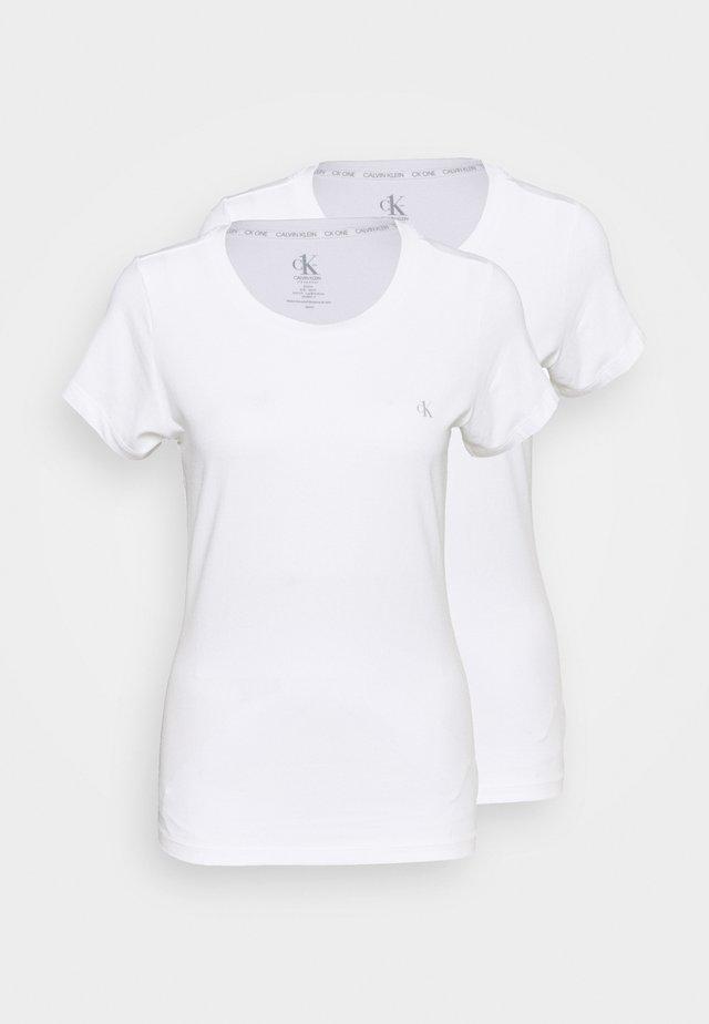CK ONE CREW NECK 2 PACK - Koszulka do spania - white