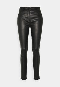 sandro - PAMEL - Leather trousers - noir - 0