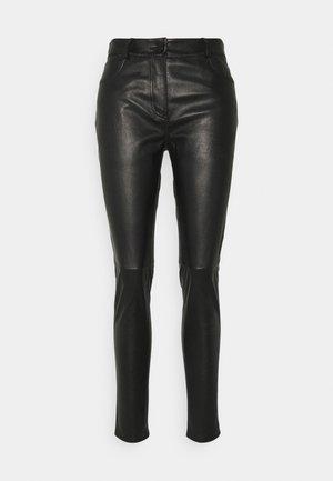 PAMEL - Leather trousers - noir