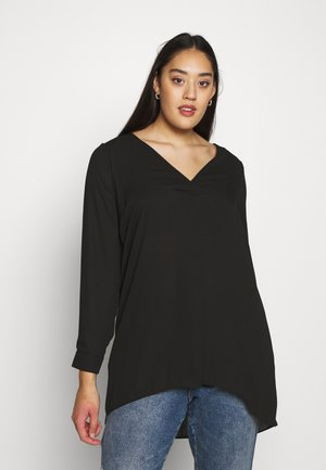 CROSS FRONT - Tunique - black
