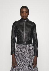 MICHAEL Michael Kors - PONTI COMBO - Leather jacket - black - 0