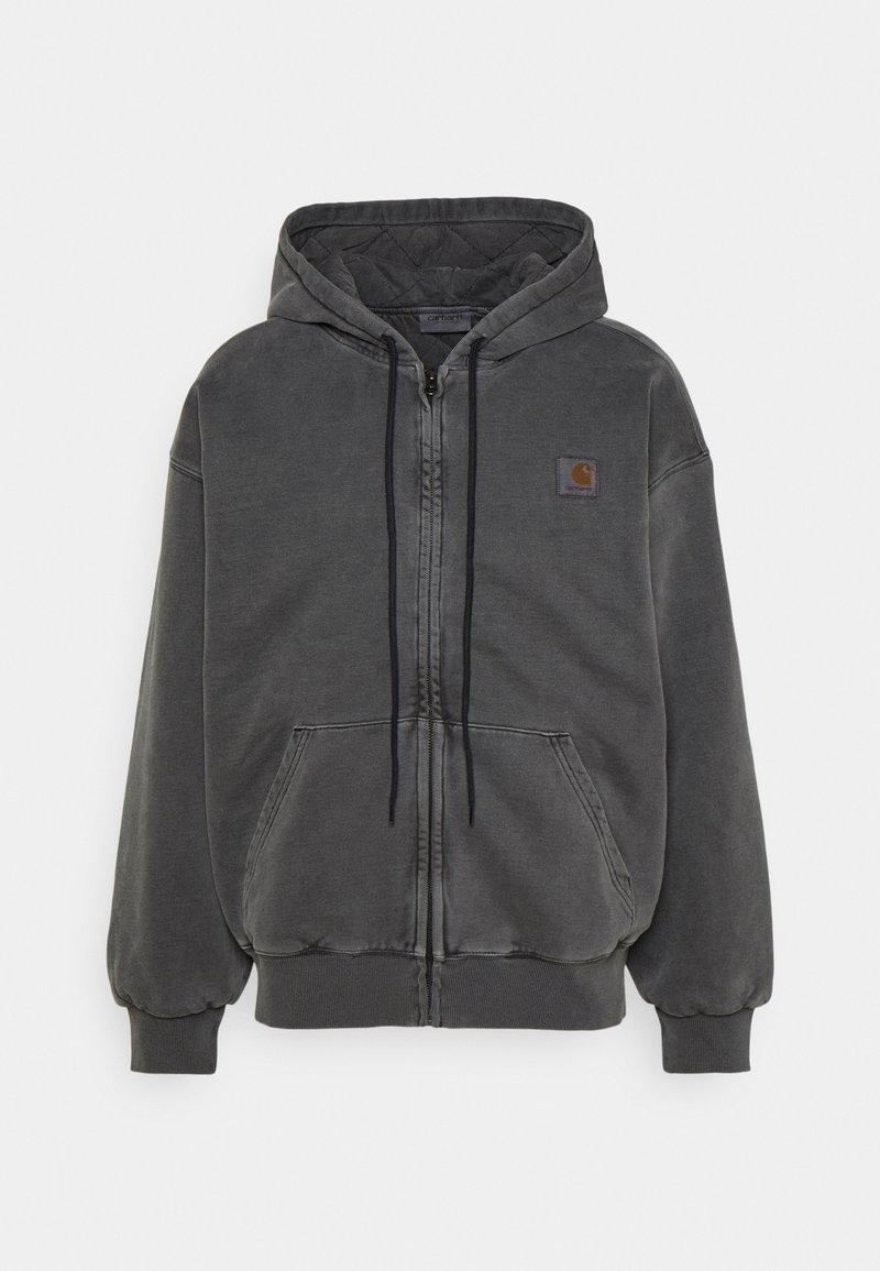 Carhartt WIP - HOODED VISTA JACKET - Zip-up sweatshirt - soot