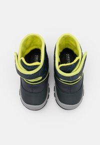 Geox - FLANFIL BOY WPF - Winter boots - navy/lime - 3