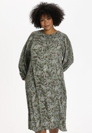 KCERNA AMI - Day dress - green paisley print