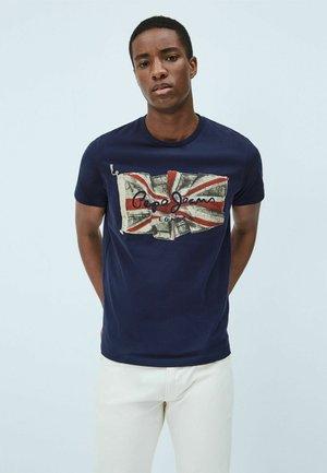FLAG - T-shirt z nadrukiem - dark blue