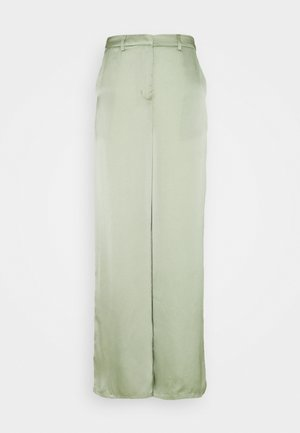 WIDE LEG TROUSERS WITH POCKET DETAIL - Pantalones - sage